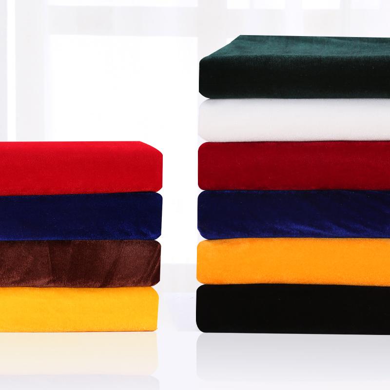 加厚金絲絨布料絨布地毯布絲絨紅黑綠色背景佈會議桌布窗簾面料
