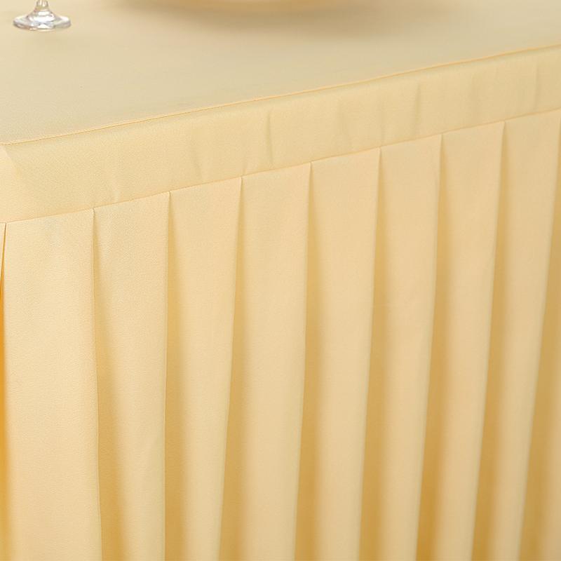定做会议桌布冷餐饮桌裙签到台裙展会活动办公桌罩红色长方形桌套