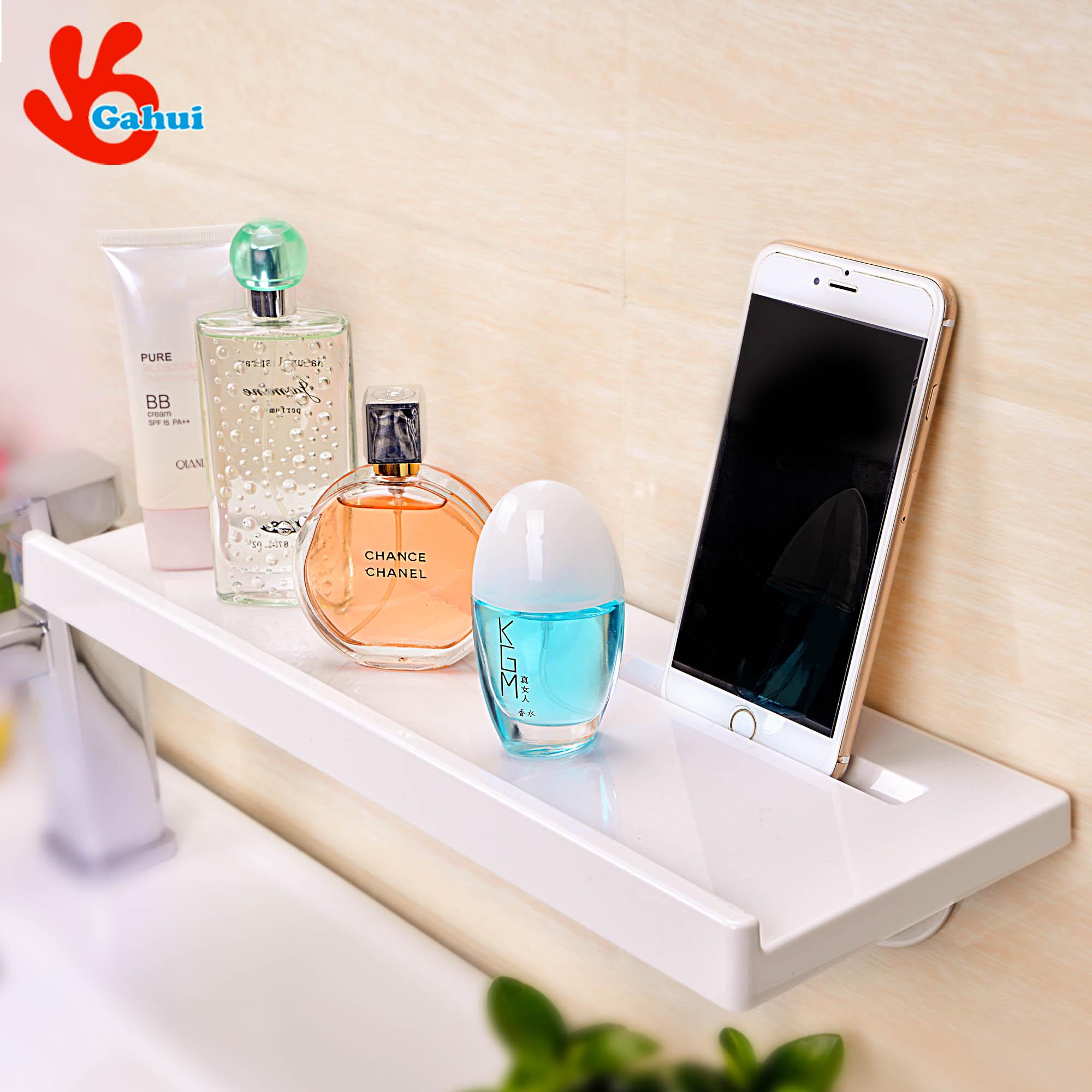 吸壁式浴室衛生間置物架洗澡間免打孔吸盤置物架壁掛置物架
