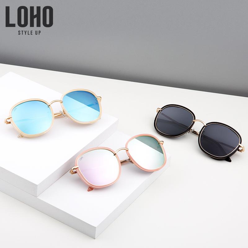 LOHO偏光太阳镜女韩版潮大框网红墨镜女圆脸新款太阳眼镜防紫外线