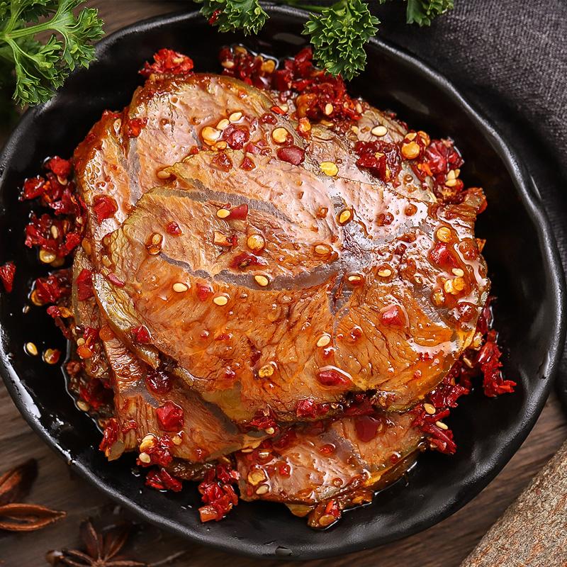 湖南特产香辣微麻辣卤牛肉片五香酱牛肉真空即食网红小吃零食熟食