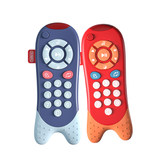 Bainshi toy mobile phone baby 0-1 years old can bite music children remote control boys and girls baby simulation phone
