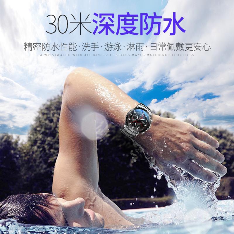 智典正品 新款男士全自動機械表防水運動時尚潮流精鋼手表男表  2019