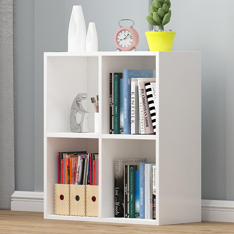 书架落地置物架简约现代省空间家用客厅收纳架学生小书架简易书柜