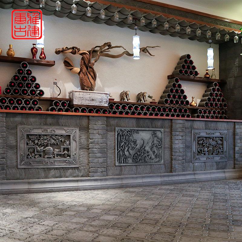 古建砖雕徽派青砖浮雕仿古砖雕影壁墙装饰壁画中式庭院室外照壁墙