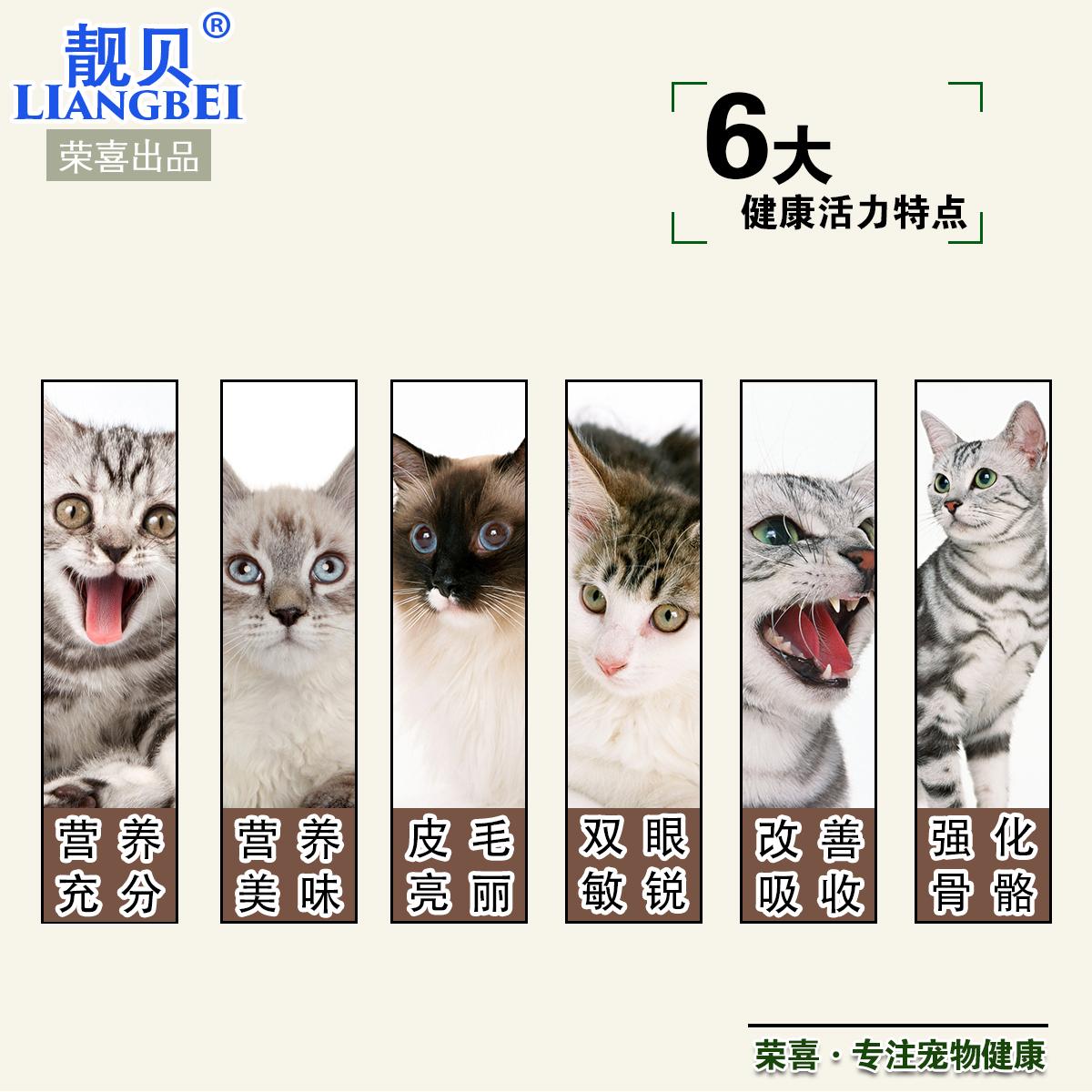 5斤全国包邮 靓贝猫粮500g散装全期猫粮海洋鱼味幼猫成猫猫主粮