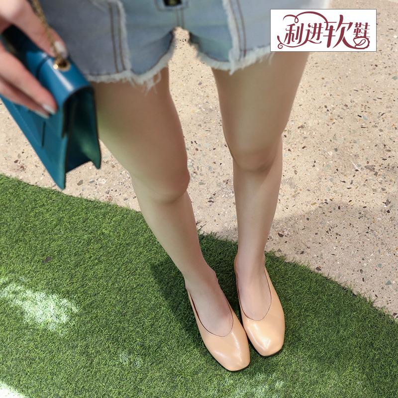 2019春新款驾车原宿豆豆鞋女欧美休闲鞋奶奶鞋单鞋社会鞋利进软鞋