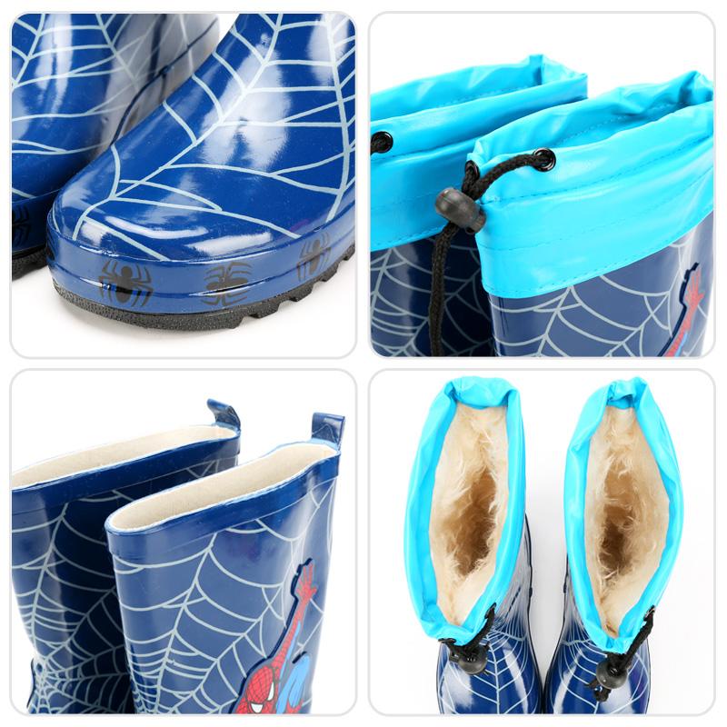 蜘蛛侠儿童雨鞋中学生男女童雨靴防滑水鞋宝宝KT猫中小童套鞋雨靴