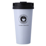 Simple insulated coffee cup men's and women's office portable lid stainless steel mug with lid