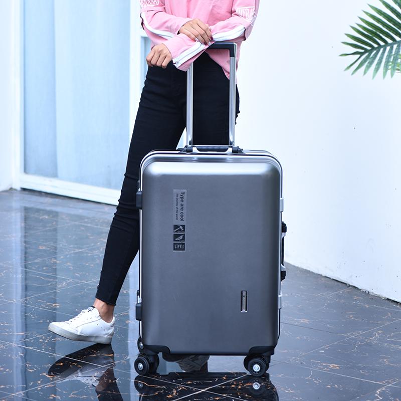 新款袋鼠同款铝框万向轮拉杆箱密码箱旅行箱登机箱行李箱皮箱 2019
