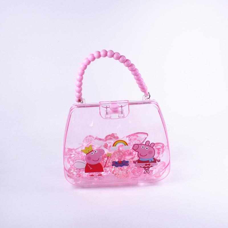 幼儿儿童公主小女孩子抓水晶奖励礼品礼物粉色亚克力串珠宝石玩具