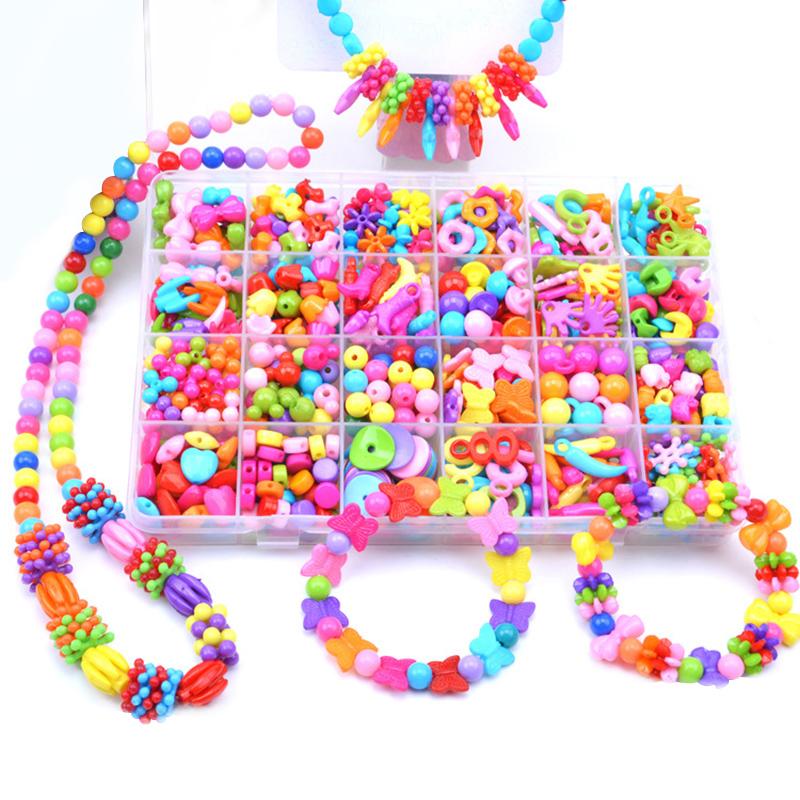 女孩玩具24格儿童手工diy串珠益智玩具穿珠子手链弱视训练3-12岁