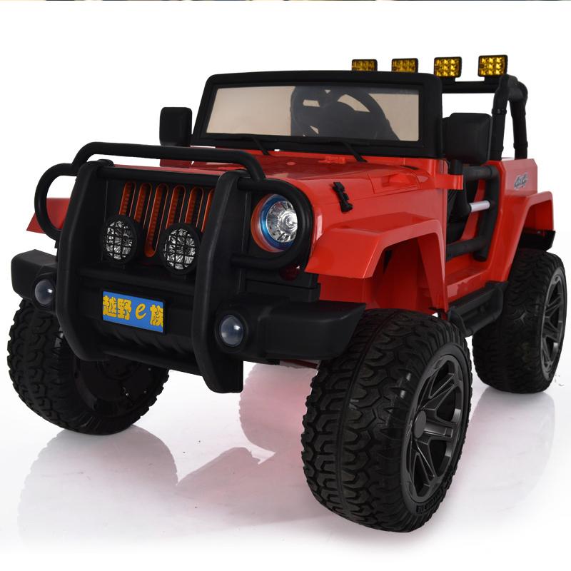 儿童电动车四轮玩具遥控汽车可坐人大人宝宝四驱越野车双人超大号