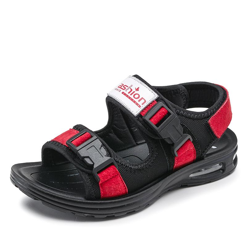 男童凉鞋2019春夏季新款儿童鞋男真皮韩版潮中大童学生男孩沙滩鞋
