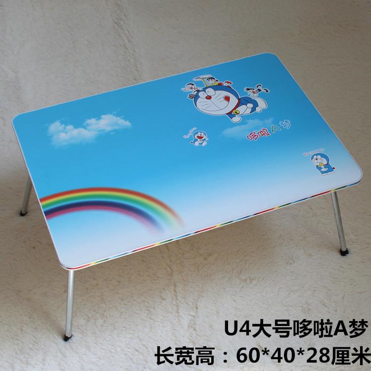 简易笔记本电脑床上做桌懒人可折叠书桌大号学生宿舍用学习小桌子