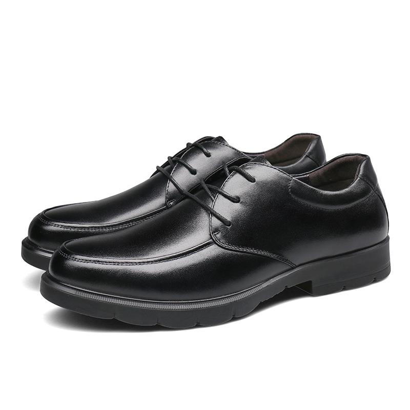 奥康男鞋 男士皮鞋圆头英伦系带商务休闲鞋子皮鞋 男真皮