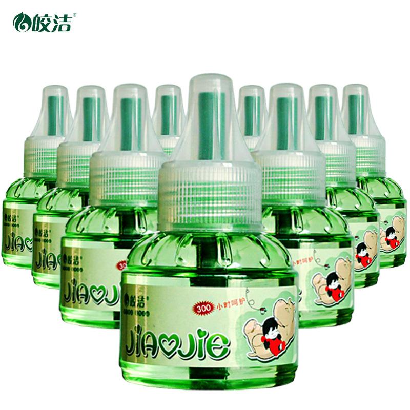 皎洁电热蚊香液10瓶补充装无加热器驱蚊液电蚊香无味套装灭蚊液体