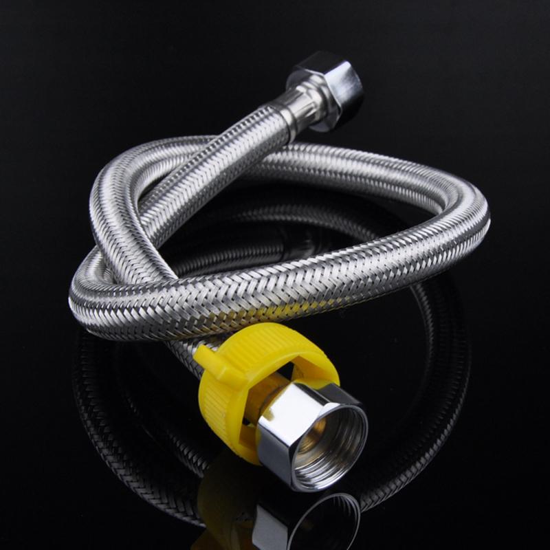 304不锈钢编织金属软管马桶热水器龙头冷热高压防爆家用4分进水管