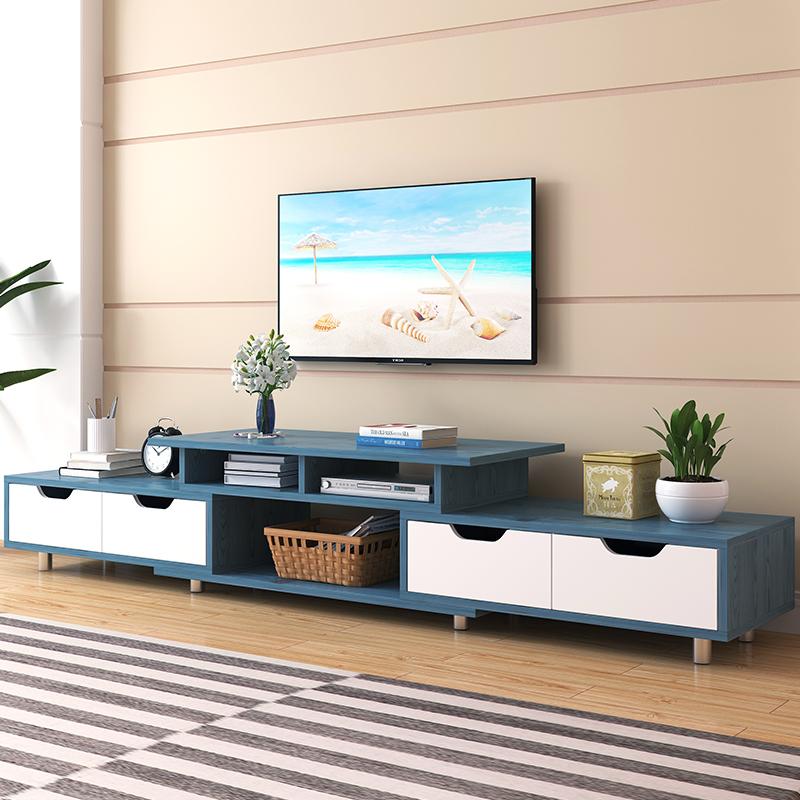 电视柜茶几组合现代简约小户型实木色简易北欧电视机柜家用客厅桌