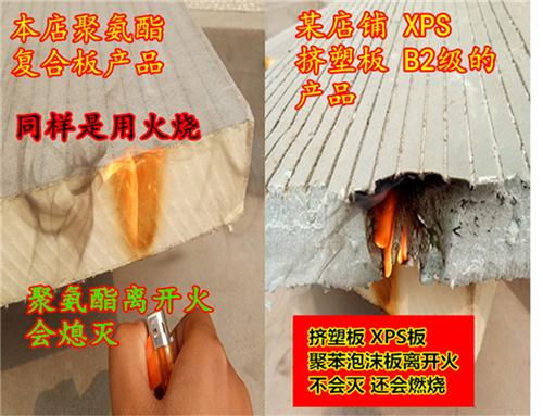 聚氨酯复合保温板阳光房屋顶隔热材料室内外墙保温材料防火保温板