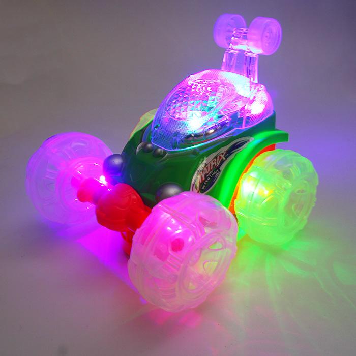 热卖电动儿童玩具发小孩汽车铠甲特技车 地摊夜光地摊货源热卖