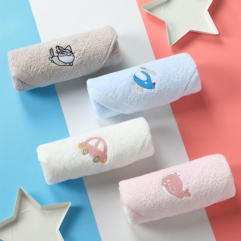 纯棉洗脸家用儿童毛巾专用洗澡宝宝童巾吸水小面巾男童擦手擦脸