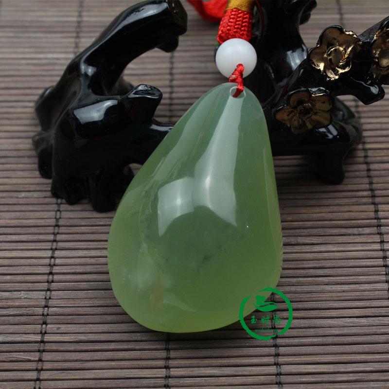 玉裸石手把件 玉石把玩件 岫玉原石 绿色 天然岫岩玉手玩件
