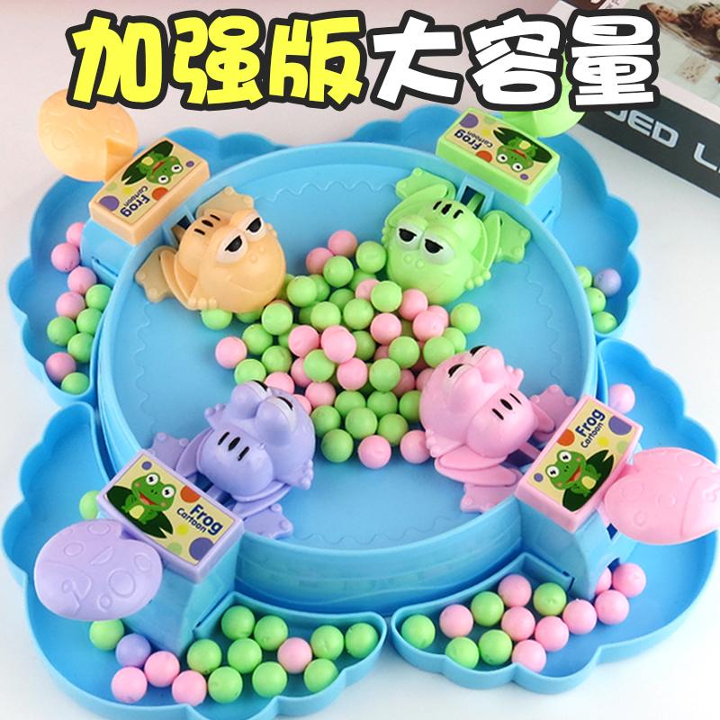 疯狂青蛙吃豆玩具吃豆豆儿童益智贪吃亲子互动球豆子男孩抖音同款