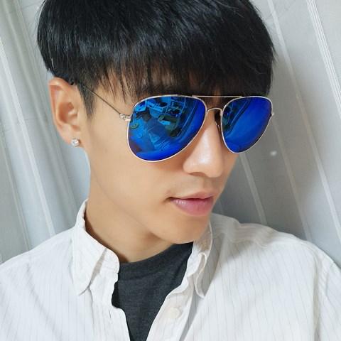 太阳镜男女同款遮阳墨镜潮流个性开车蛤蟆镜圆脸显瘦防紫外线眼镜【图3】