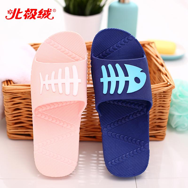 北極絨 夏季浴室拖鞋情侶居家居漏水防滑男女按摩塑料地板涼拖鞋