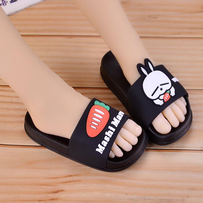 夏季儿童拖鞋夏季女童可爱小公主防滑软底韩版男童女童兔子凉拖鞋主图