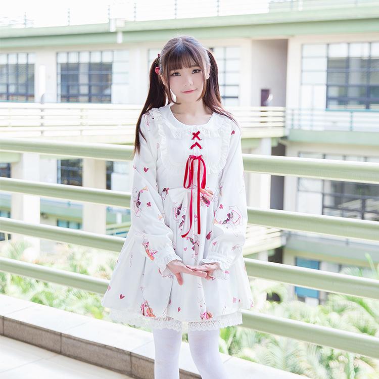 洛丽塔风格服装_2017软妹洛丽塔洋装动漫中国风cosplay服装日本女装全套女连衣裙