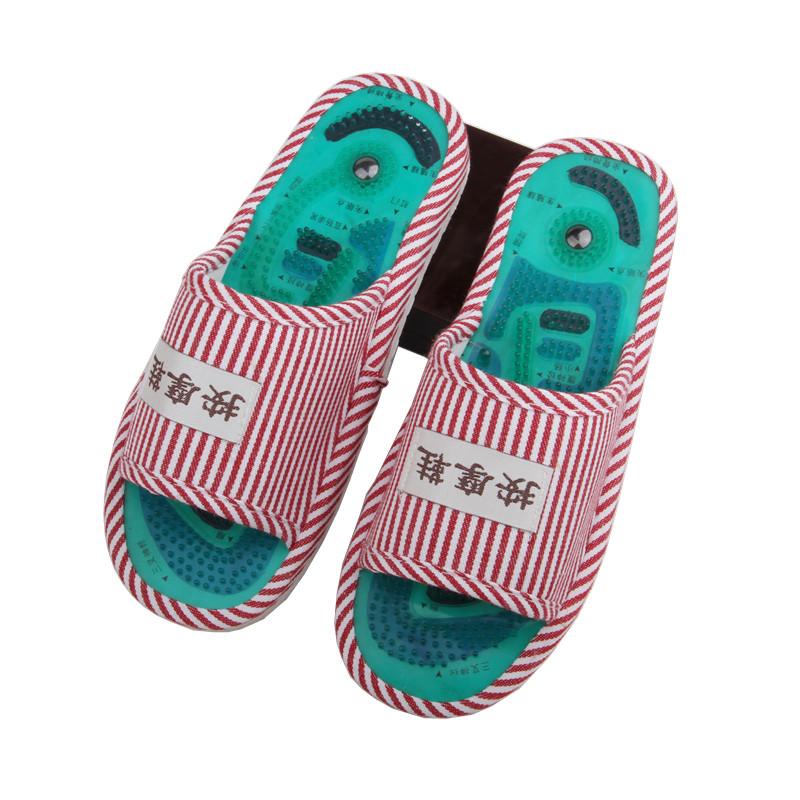 穴位足底按摩鞋磁疗足疗拖鞋鹅卵石按摩拖鞋脚底保健家居男女防滑