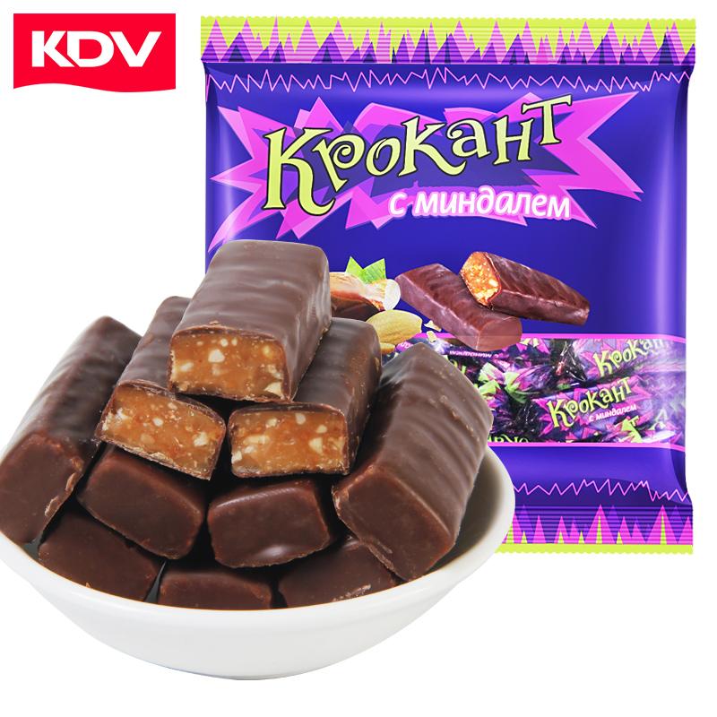 俄罗斯紫皮糖正品kdv进口网红巧克力婚庆喜糖果散装小零食品批发