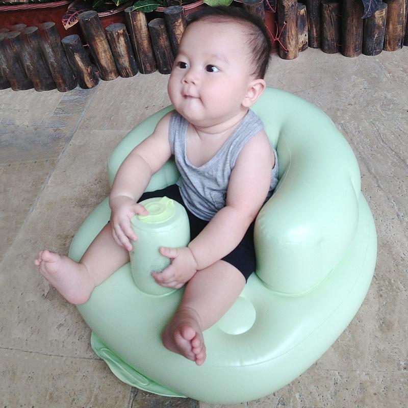 幼婴儿童宝宝充气小沙发吃饭餐椅多功能便捷BB学坐椅座椅垫洗澡凳