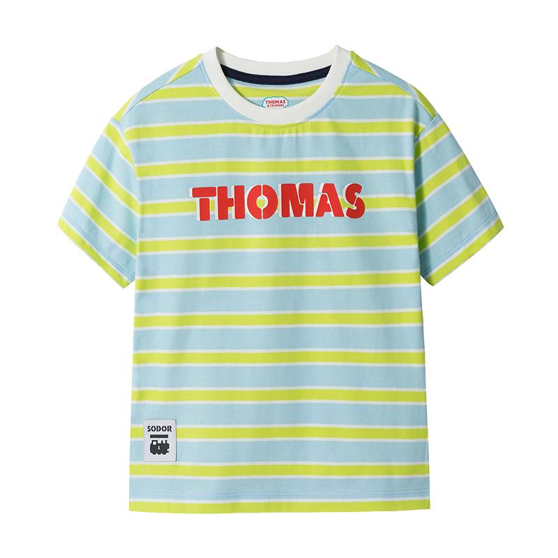 【清仓特卖29元】托马斯童装2020夏新款纯棉洋气男孩短袖上衣T恤