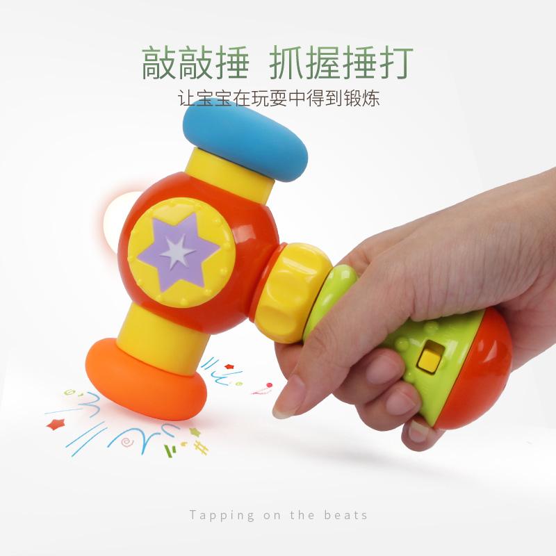 婴儿六面手拍鼓6-12个月宝宝益智儿童玩具0-1岁可充电音乐拍拍鼓