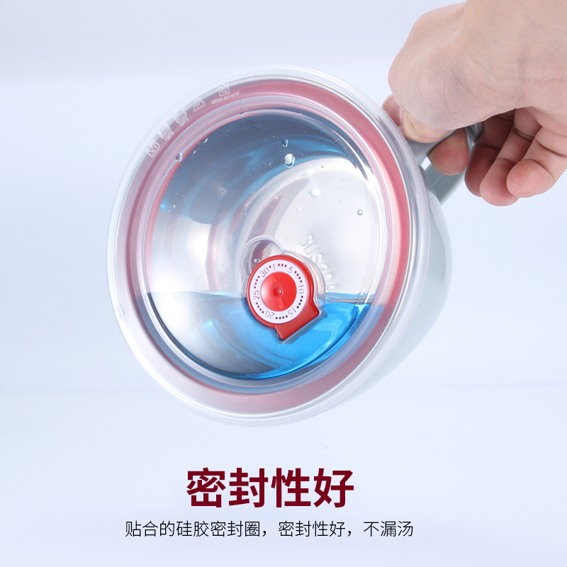304不锈钢泡面碗带盖大号碗学生便当盒方便面碗宿舍碗筷套装大碗