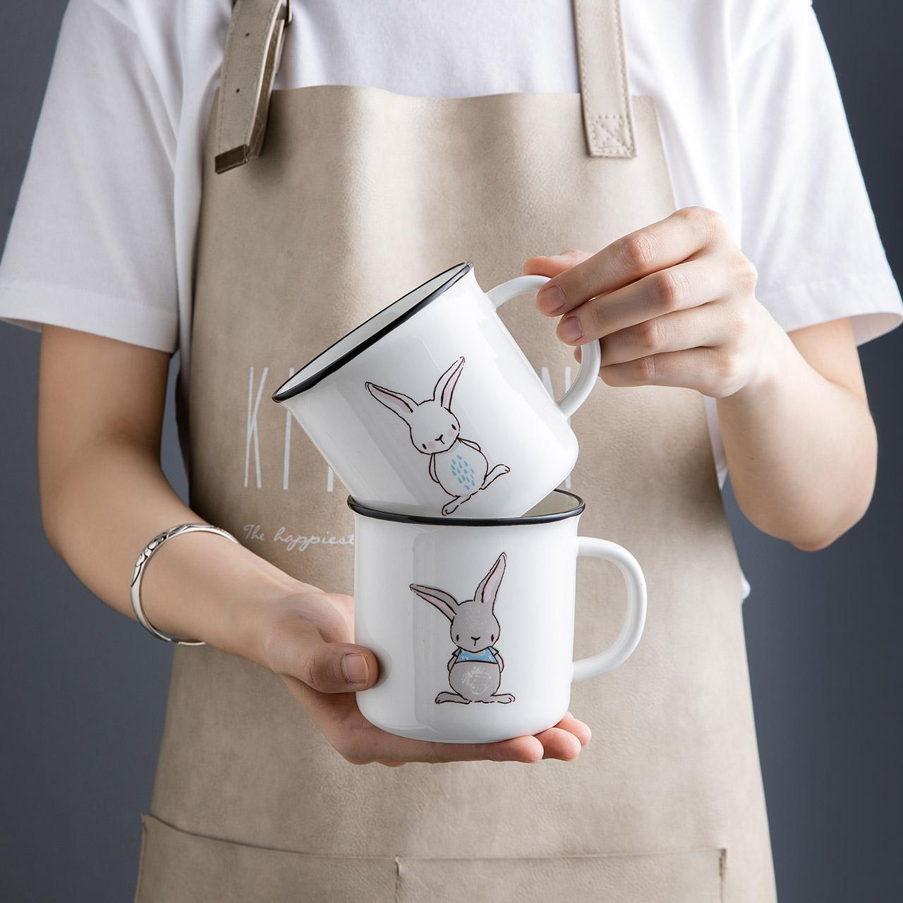 摩登主妇家用陶瓷杯,少女心可爱超萌礼物