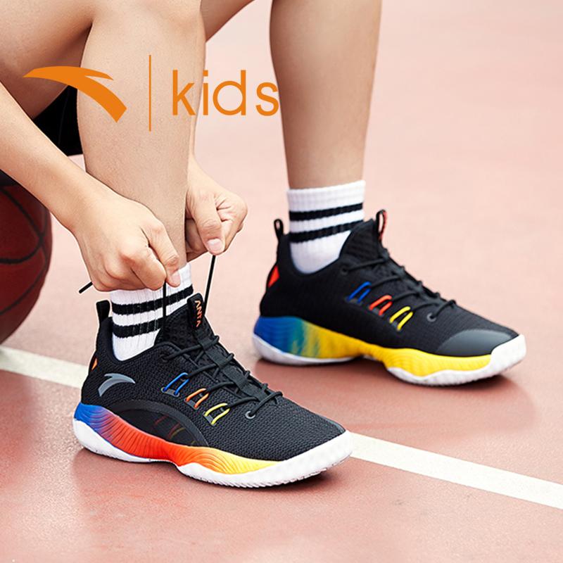 DF 夏季新品男童透气网面鞋子中大童运动鞋 2019 安踏童鞋儿童篮球鞋