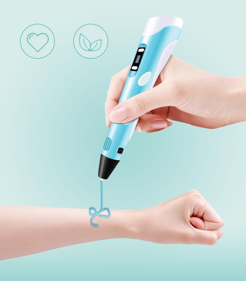 创意礼品儿童男女生日礼物 D 打印笔抖音温智能涂鸦笔低立体绘画笔充电三 3D 原装新款学生