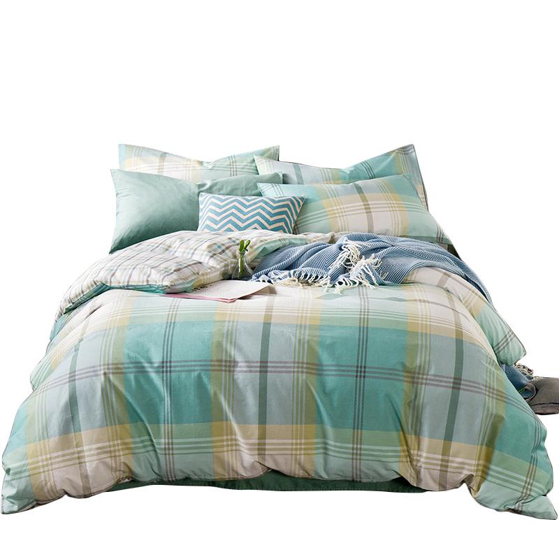 南极人四件套北欧全棉床单被套床上用品简约纯棉套件1.5m1.8米床
