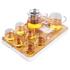 Xiangye glass tea set set household heat-resistant simple kung fu tea cup teapot set small tea tray tea maker