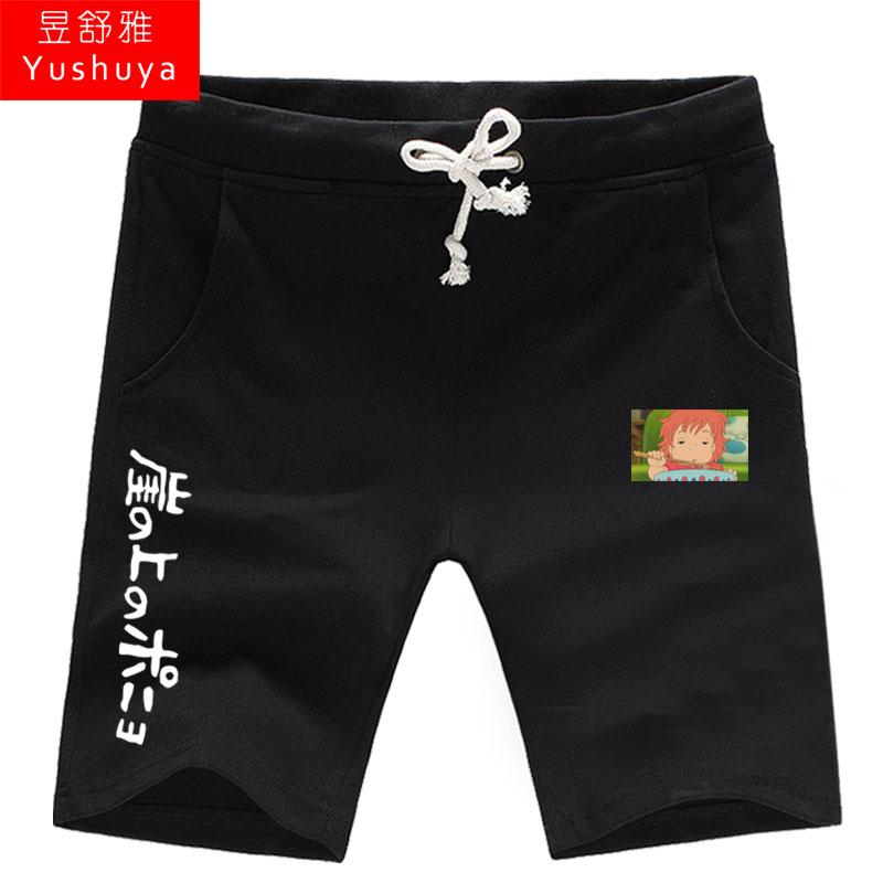 悬崖上的金鱼姬短裤男女学生五分裤子夏季休闲裤5分沙滩裤运动裤