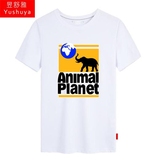 Discovery探索频道大象探索短袖t恤衫男女纯棉半截袖衣服夏季体恤