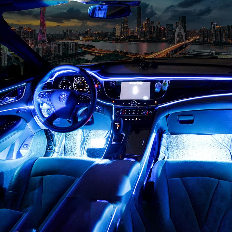 氛围灯车内居家户外冷光线气氛灯照明阅读脚底灯改装汽车用品 led