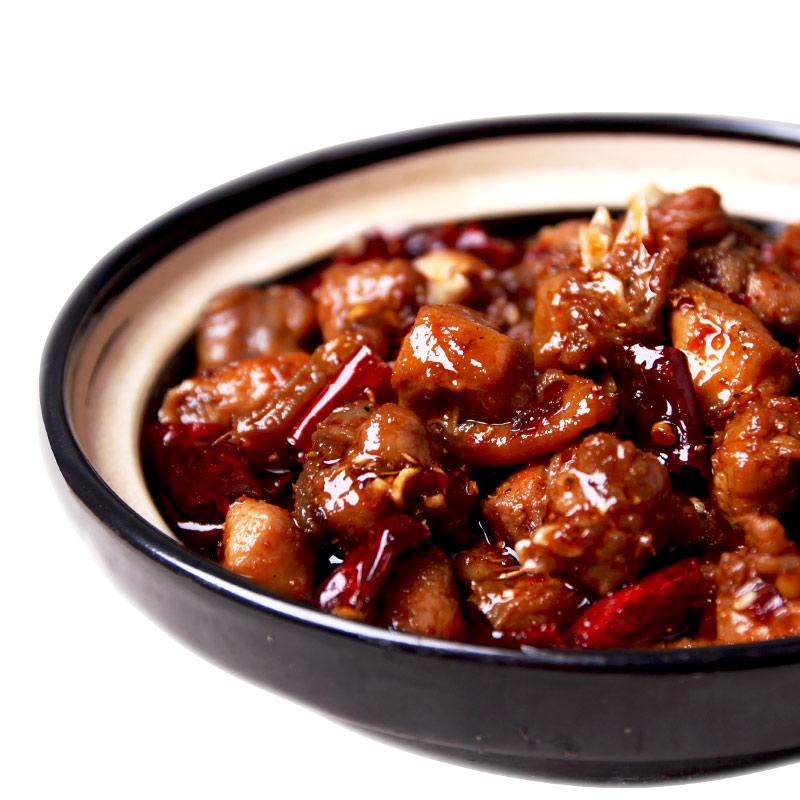 自贡冷吃兔肖三婆麻辣兔肉丁兔子肉成都兔头兔腿四川特产小吃零食