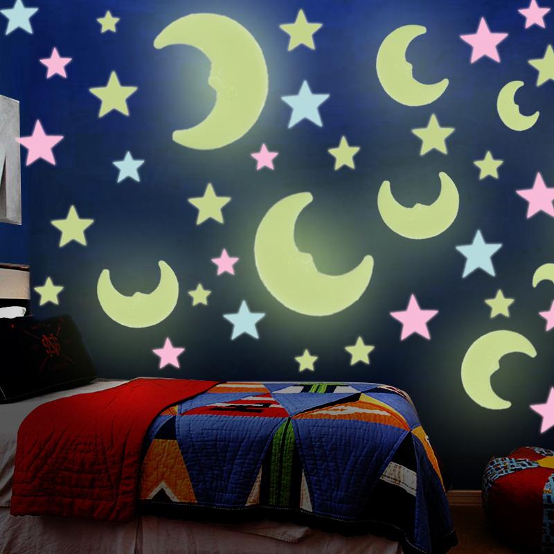 3D立體天花板夜光星星貼紙少女心裝飾房間的小飾品臥室牆貼畫布置