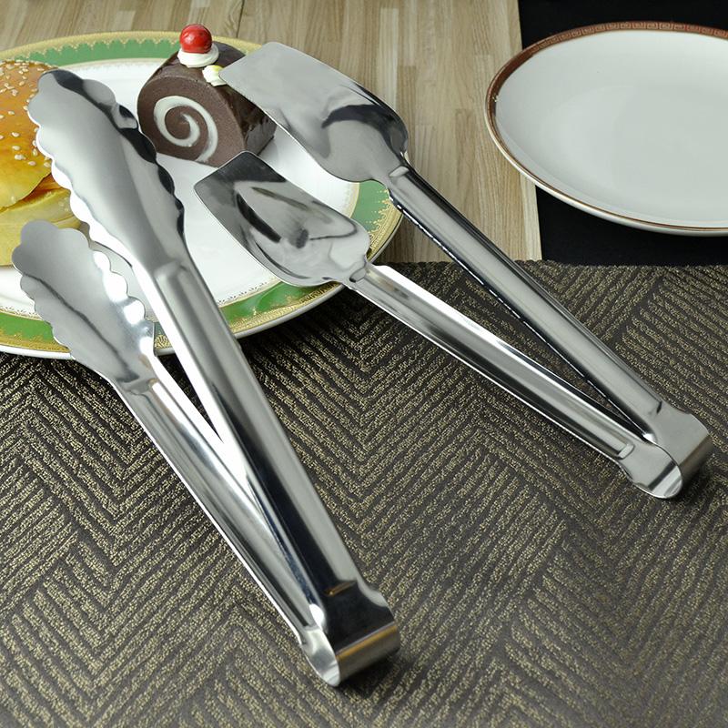 不锈钢熟食夹食品夹子烧烤烘焙饼干蛋糕面包夹子多功能牛排夹冰夹