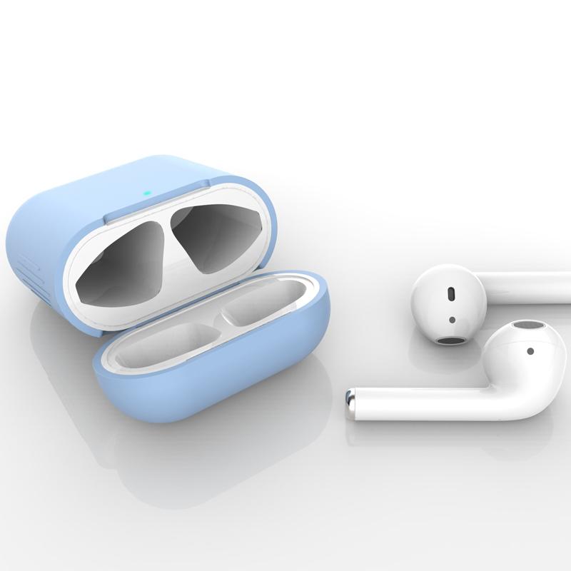 airpods2保护套苹果无线蓝牙耳机套ins全包软壳硅胶超薄新AirPods1盒子防丢绳防尘贴纸潮apple二代通用ipods